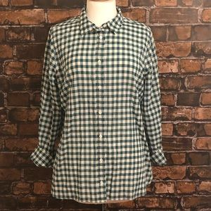 J Crew Boy Plaid Button Down 14